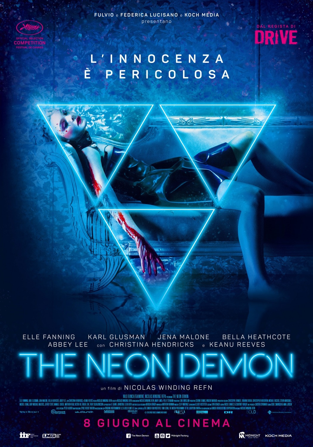 neon demon italy - New The Neon Demon UK Trailer Is Dangerous; Italian Poster Drips Blood