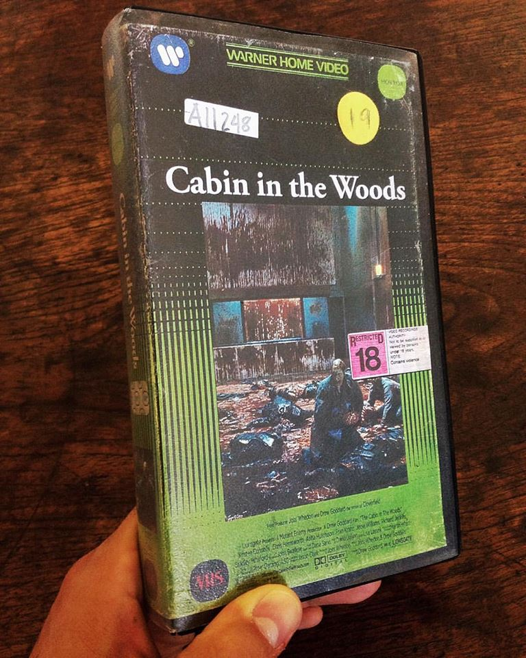 vhs cabin in the woods - Artist Makes Vintage VHS Boxes for Current Horror Movies