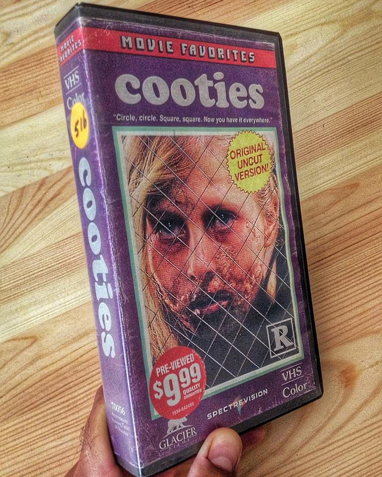 vhs cooties - Artist Makes Vintage VHS Boxes for Current Horror Movies