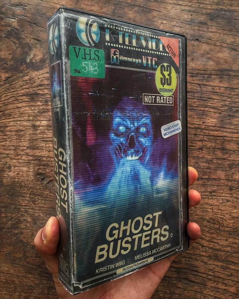 vhs ghostbusters - Artist Makes Vintage VHS Boxes for Current Horror Movies