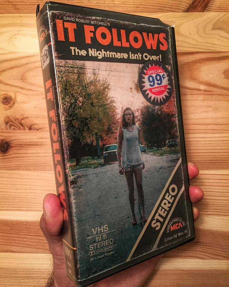 vhs itfollows - Artist Makes Vintage VHS Boxes for Current Horror Movies