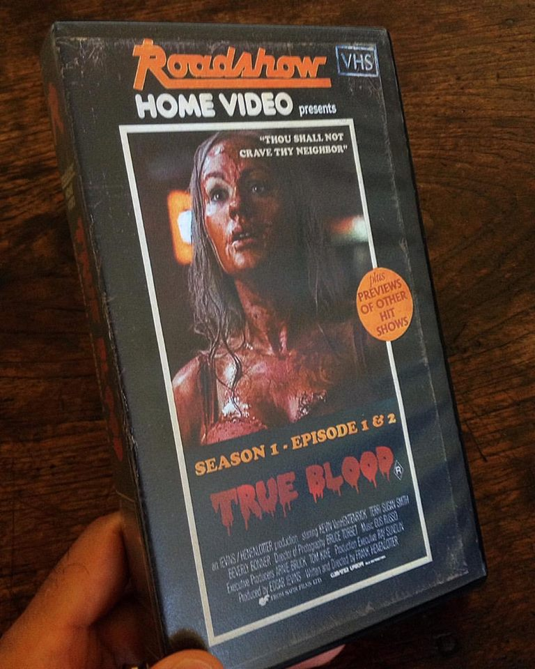 vhs true blood - Artist Makes Vintage VHS Boxes for Current Horror Movies