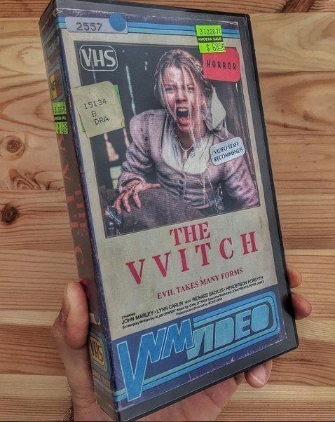 vhs witch - Artist Makes Vintage VHS Boxes for Current Horror Movies