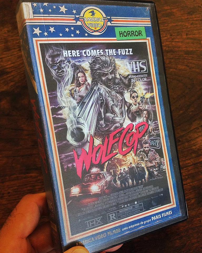 vhs wolfcop - Artist Makes Vintage VHS Boxes for Current Horror Movies