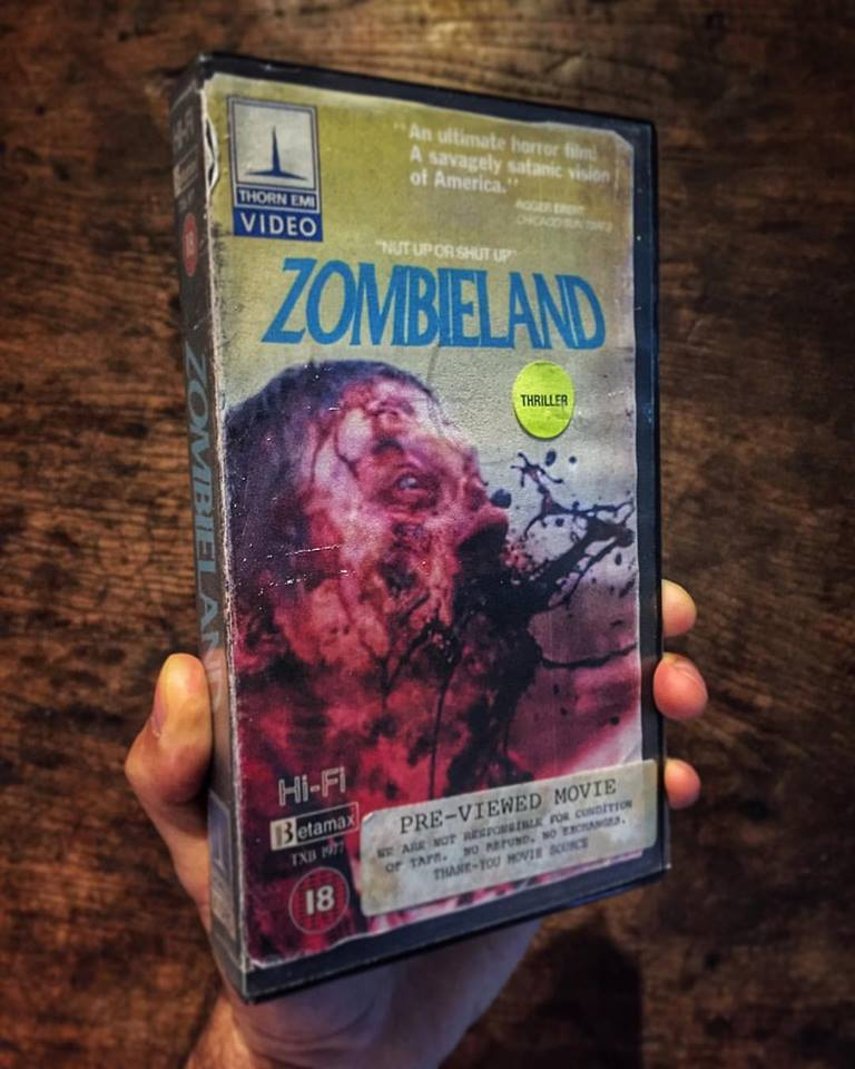 vhs zombieland - Artist Makes Vintage VHS Boxes for Current Horror Movies