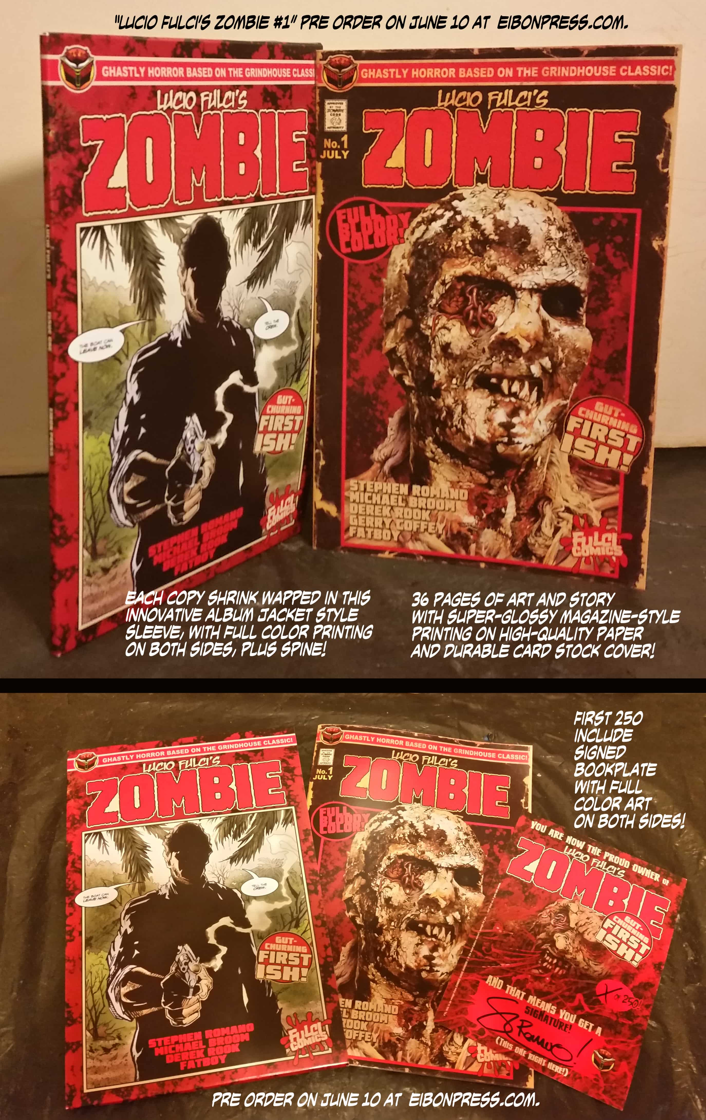 Flesh colored cardstock - Zombie Comic Preview