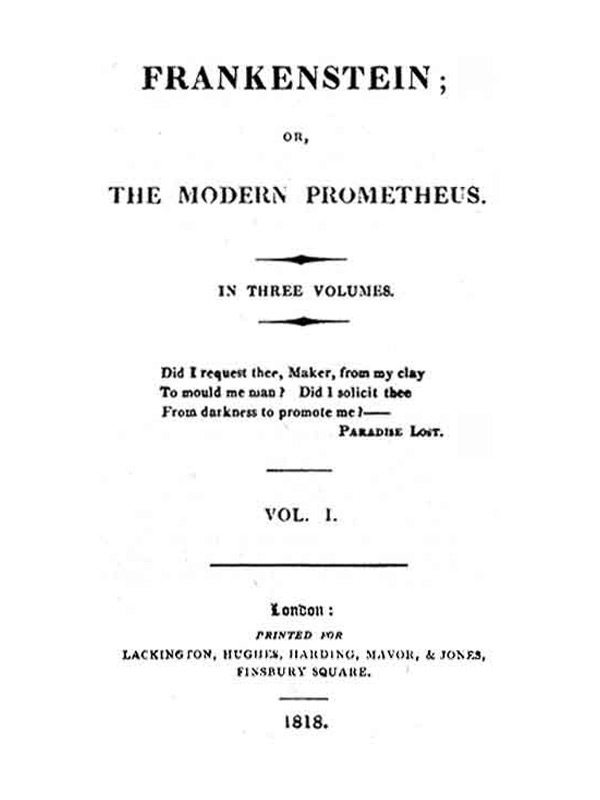 celebrate the dream that sparked mary shelley s frankenstein  frankenstein 1818 edition title page