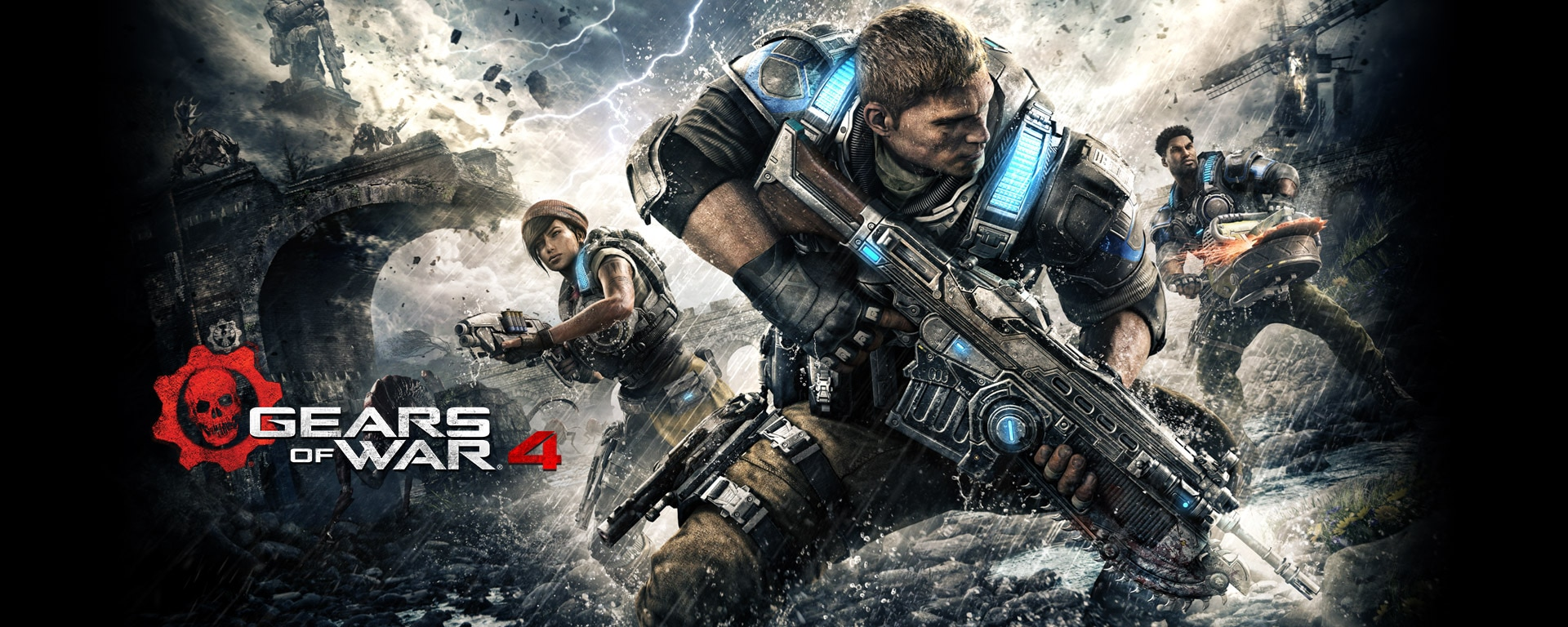 Gears of War 4 - E3 2016: Gears of War 4 Trailer Shoots Saw Blades and Lightning at Swarms of Monsters