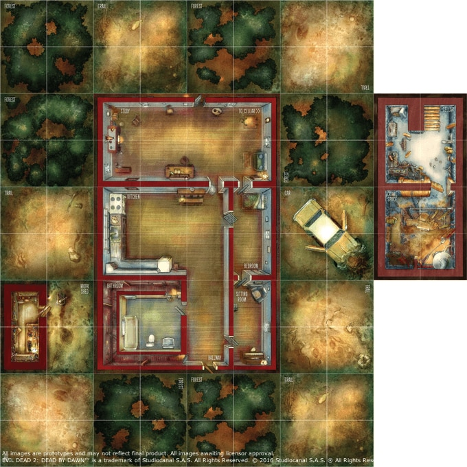 evil dead boardgame art6 1 - Taylor Smith and JD Boucher Further Talk Evil Dead 2 Board Game