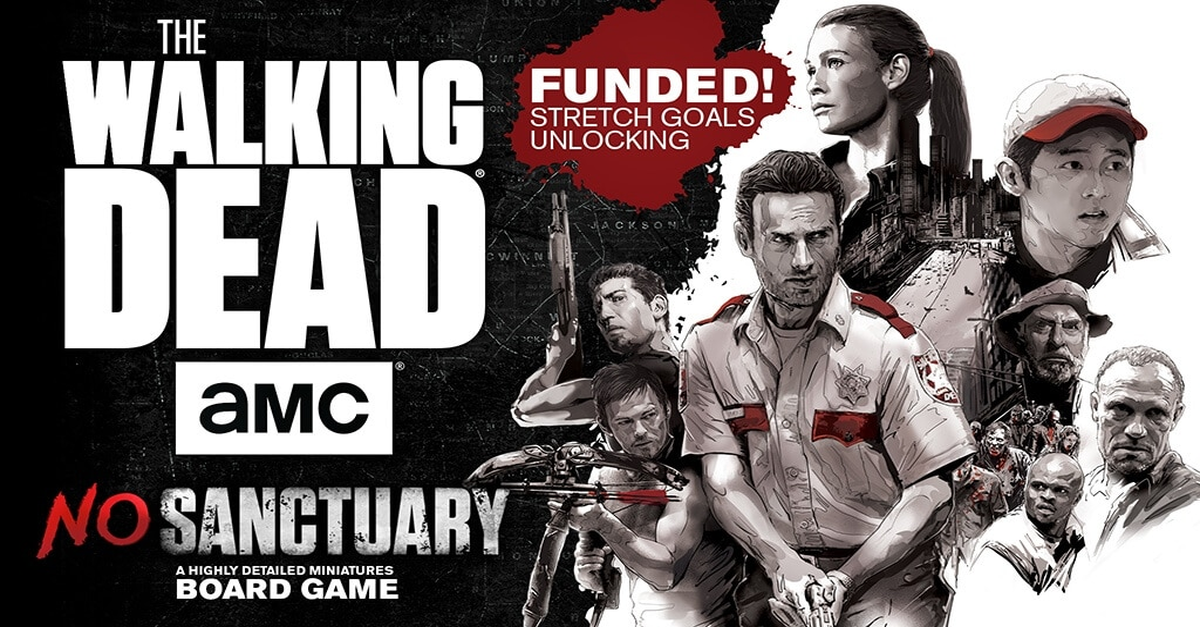 the walking dead no santuary 1 - Lead Survivors Against Zombies in The Walking Dead: No Sanctuary Board Game