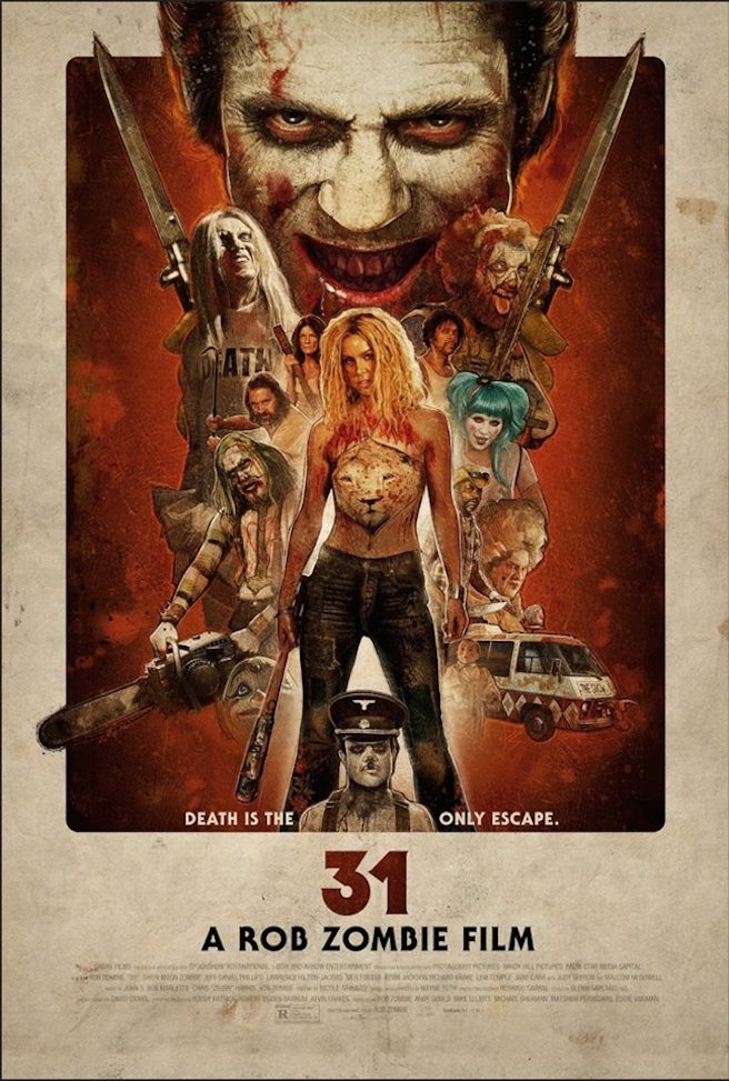 31 poster death - New 31 Trailer Plays a Deadly Game