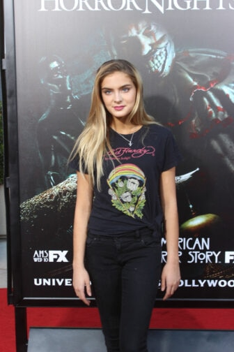 Brighton Sharbino01 336x504 - Halloween Horror Nights Hollywood - Dread Central Attends the Red Carpet Kick-Off; Photo Gallery