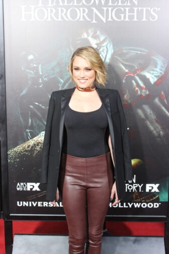 Clare Grant02 336x504 - Halloween Horror Nights Hollywood - Dread Central Attends the Red Carpet Kick-Off; Photo Gallery