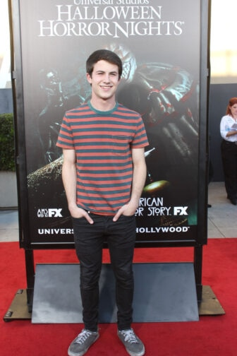 Dylan Minnette03 336x504 - Halloween Horror Nights Hollywood - Dread Central Attends the Red Carpet Kick-Off; Photo Gallery