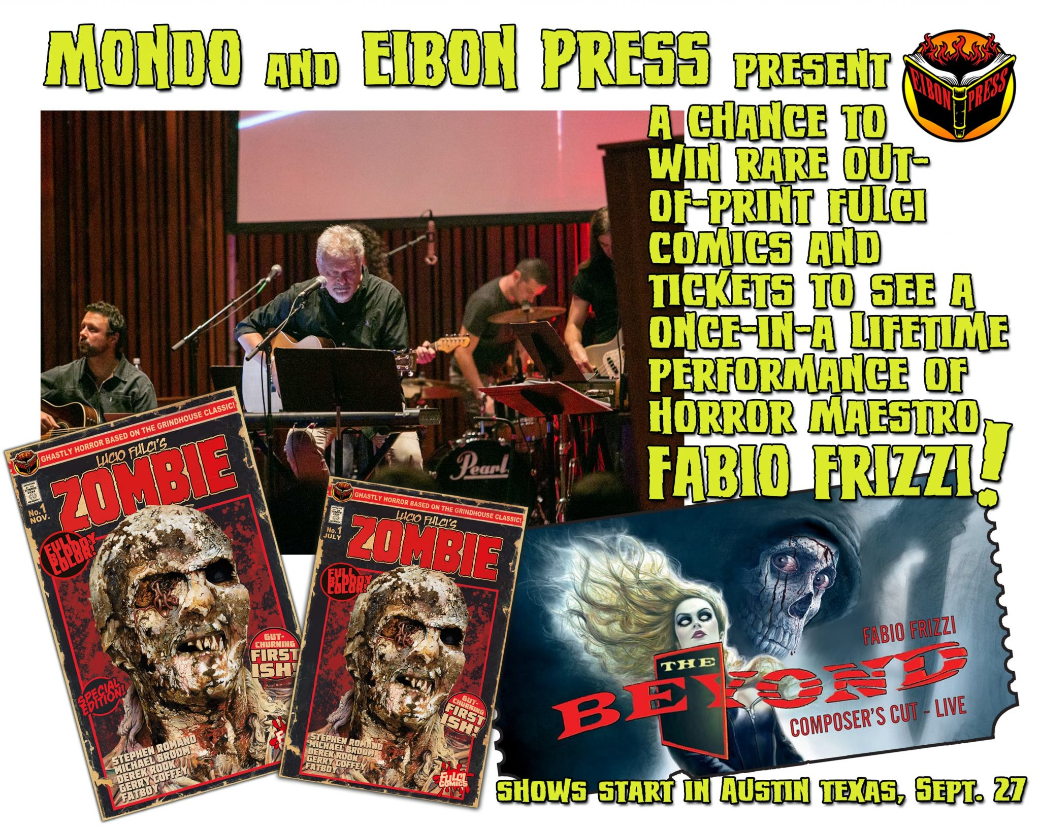 FRIZZI EIBON MONDO PROMO min - Win Rare FULCI COMICS and Tickets to See FABIO FRIZZI LIVE!