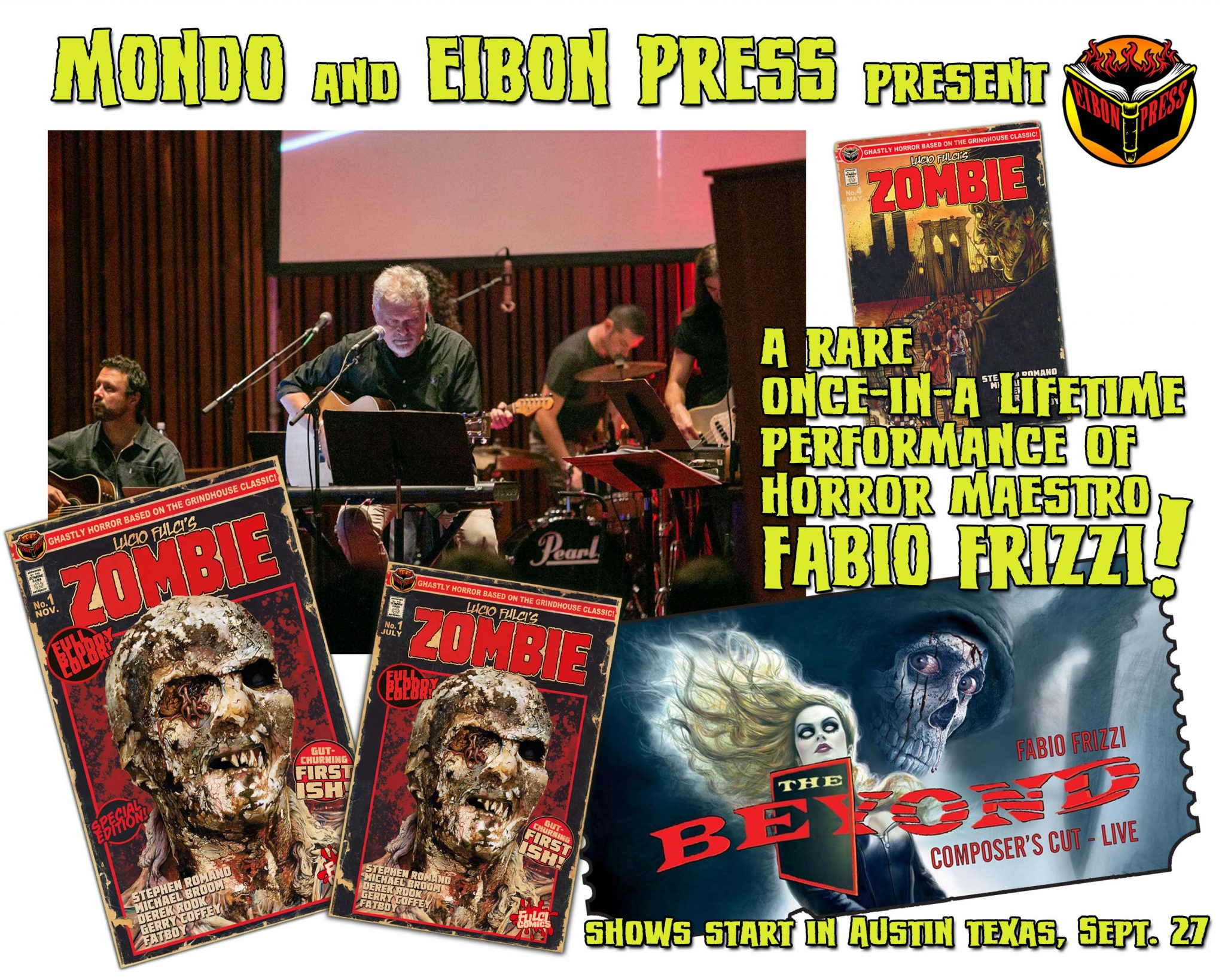 FRIZZI EIBON MONDO PROMO - Eibon Press Announces Fabio Frizzi/Fulci Comics Contest WINNERS!