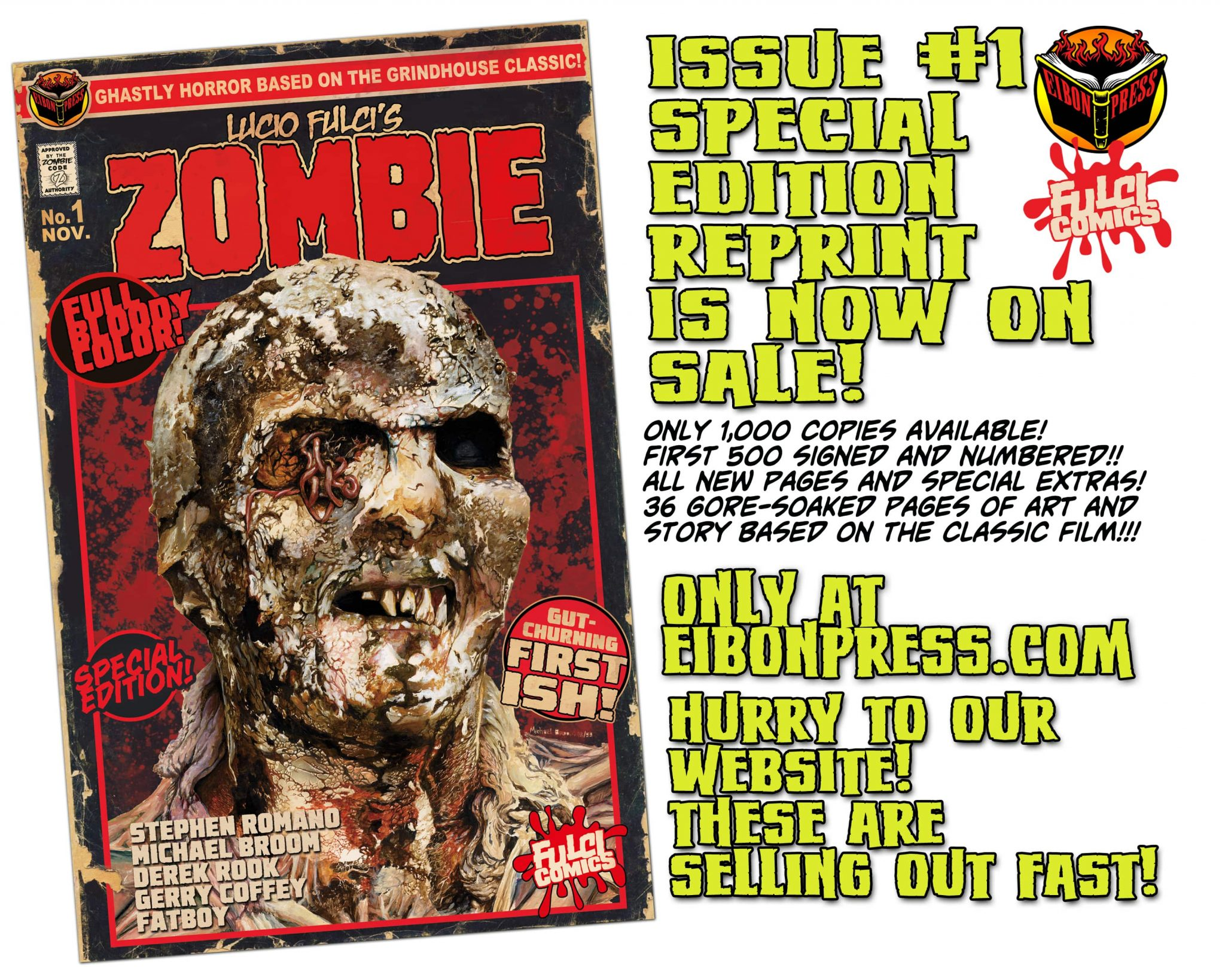 ZOMBIE NOW ON SALE min - LUCIO FULCI'S ZOMBIE #1 REPRINT NOW ON SALE!
