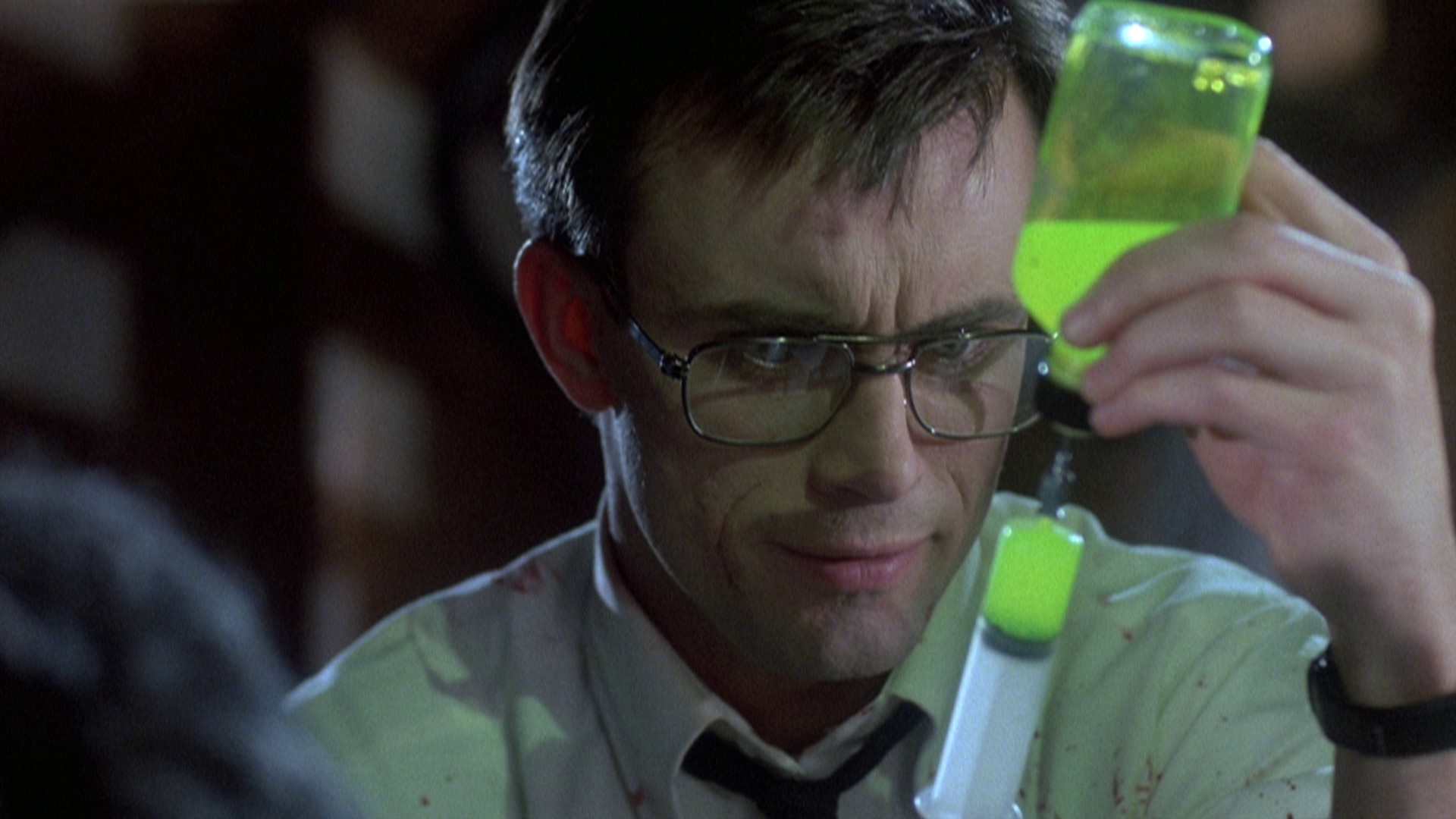Jeffery Combs as Herbert West in Stuart Gordon's 'Re-animator'-Empire Pictures
