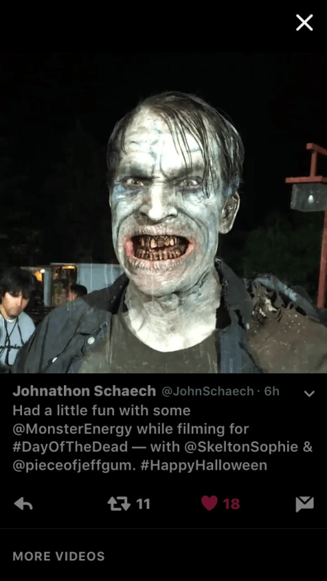 Day of the Dead 1 - Day of the Dead's Johnathon Schaech Gets His Monster On