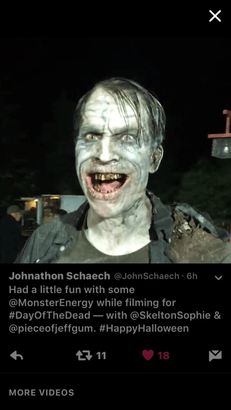 Day of the Dead 2 - Day of the Dead's Johnathon Schaech Gets His Monster On