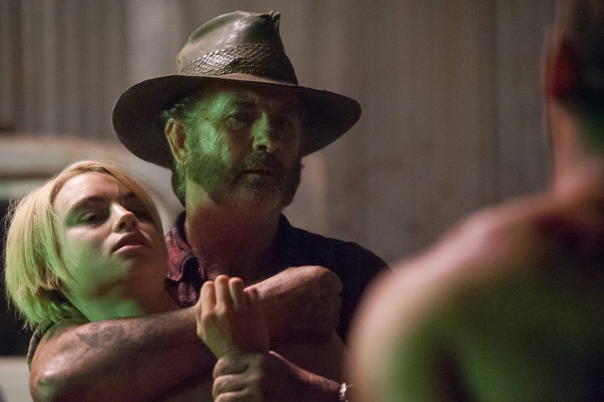 Episode 6 D40C 112 Lucy Fry as Eve Thorogood John Jarratt as Mick Taylor in WOLF CREEK. A Screentime Production for STAN. Photo Sam Oster - New Wolf Creek: The Series Clip Bares its Fangs