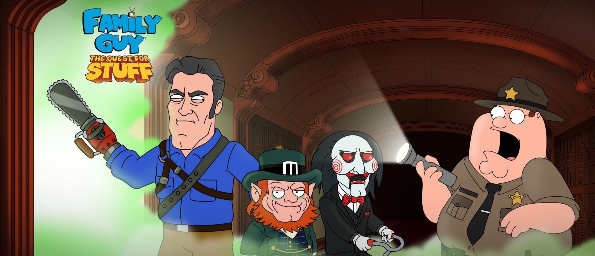 Family Guy The Quest for Stuff - Family Guy Goes on a Quest for Stuff With Horror Icons