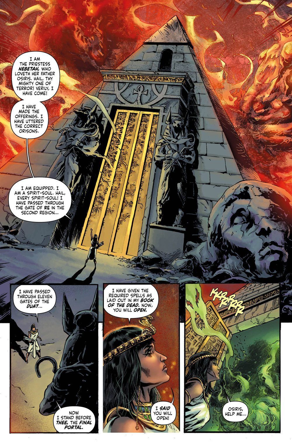 MUMMY Preview 0 revised - Exclusive Reveal: The Mummy Issue #1 Interior Pages and Variant Cover