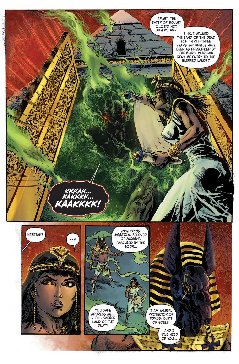 MUMMY Preview 1. revised - Exclusive Reveal: The Mummy Issue #1 Interior Pages and Variant Cover