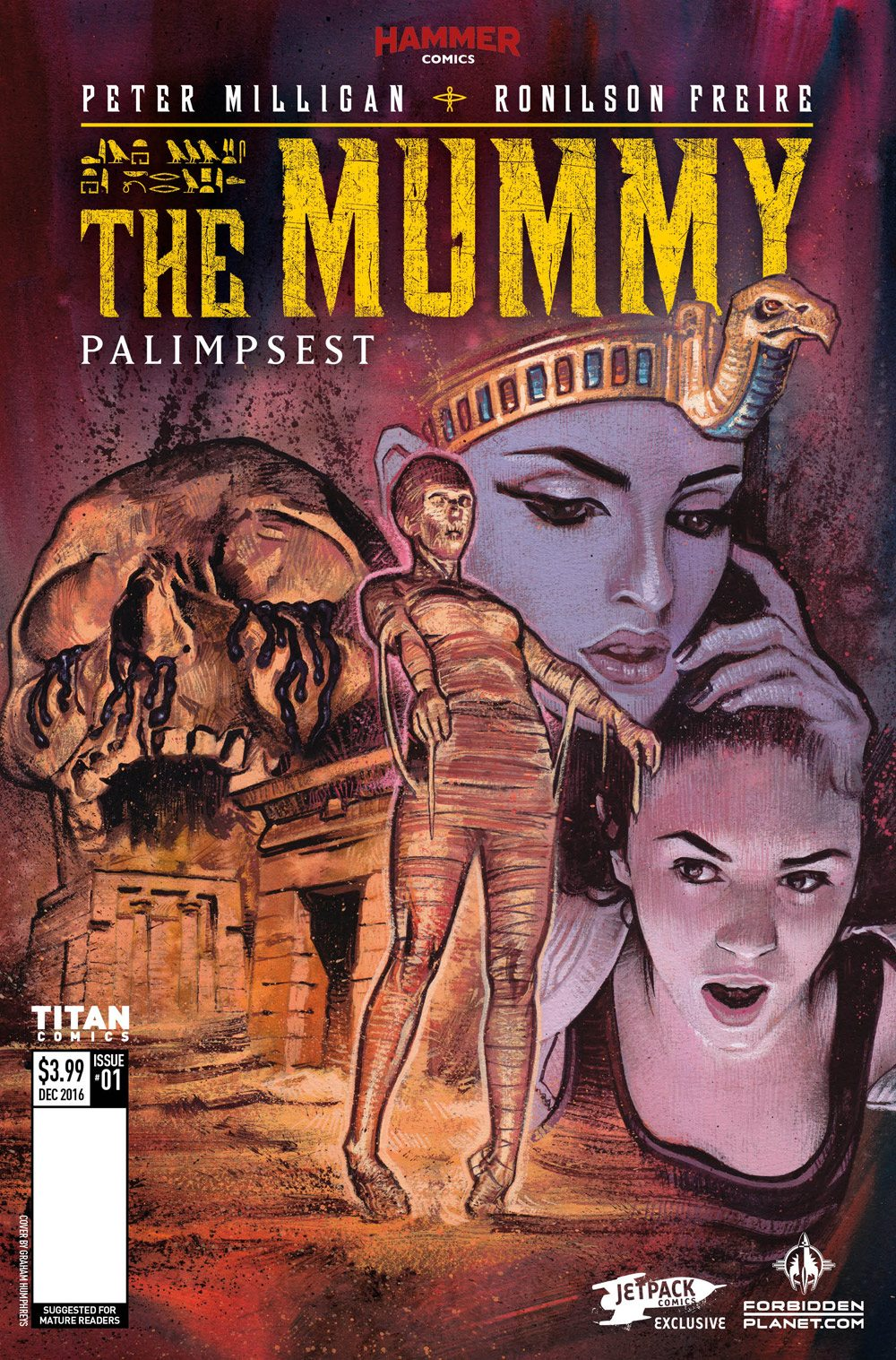 Mummy1 Cover Graham Humphreys - Exclusive Reveal: The Mummy Issue #1 Interior Pages and Variant Cover