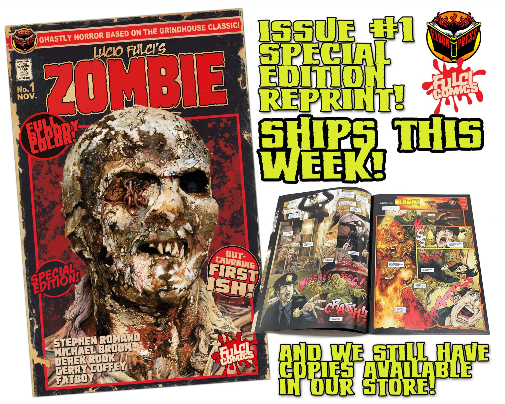 ZOMBIE 1 SPEC ED SHIP THIS WEEK min - Lucio Fulci's ZOMBIE #1 Special Edition Comic Ships this Week and MORE!