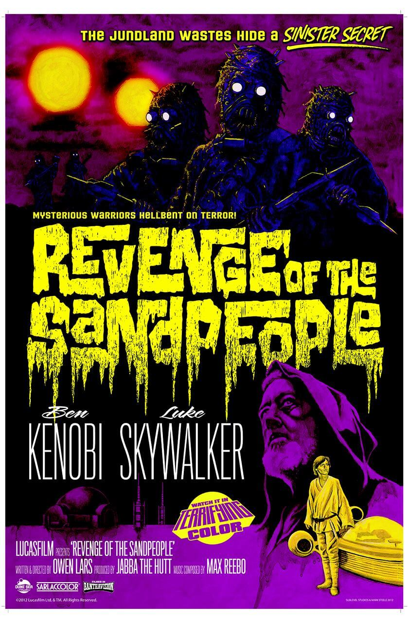 star wars horror poster 1 - Star Wars Gets A B-Movie Horror Makeover In New Posters