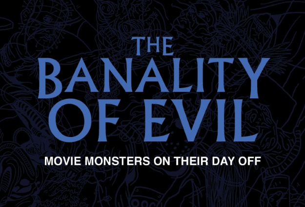 the banality of evil art series - New Infographic Explores What Horror Icons Do During Their Time Off