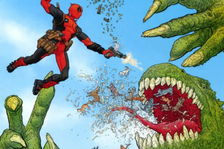Deadpool cover - Deadpool: Drawing the Merc with a Mouth (Book)