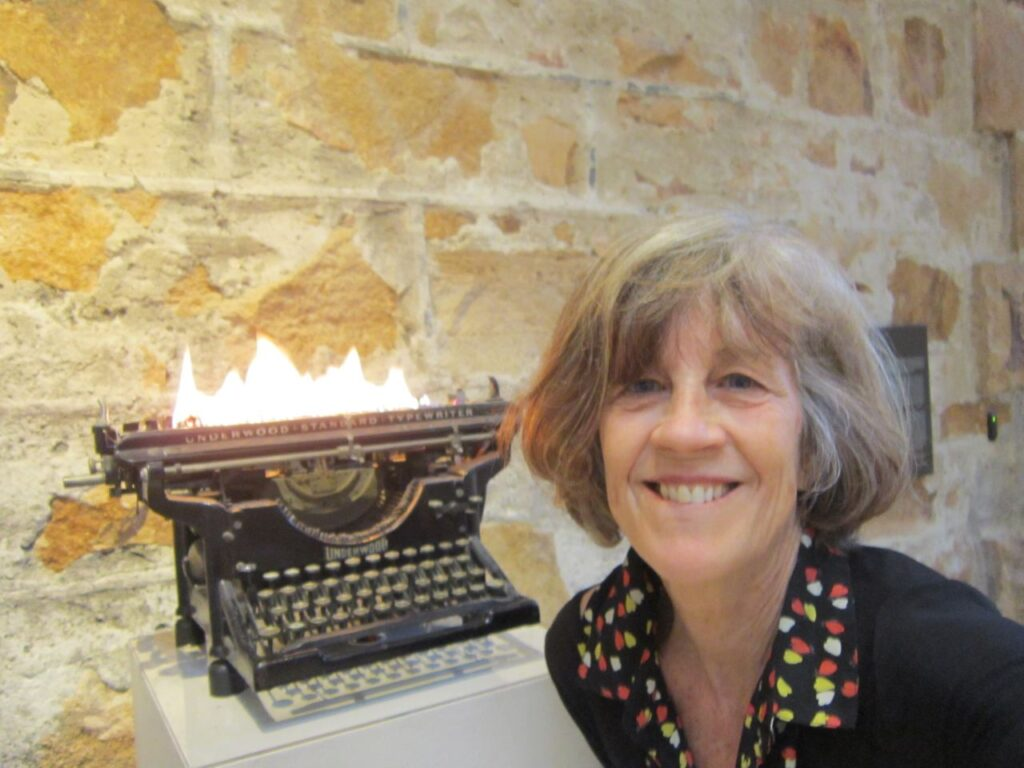 Me flaming typewriter 1024x768 - Get With IT, Part IV: The Widow of Stanley Uris Speaks
