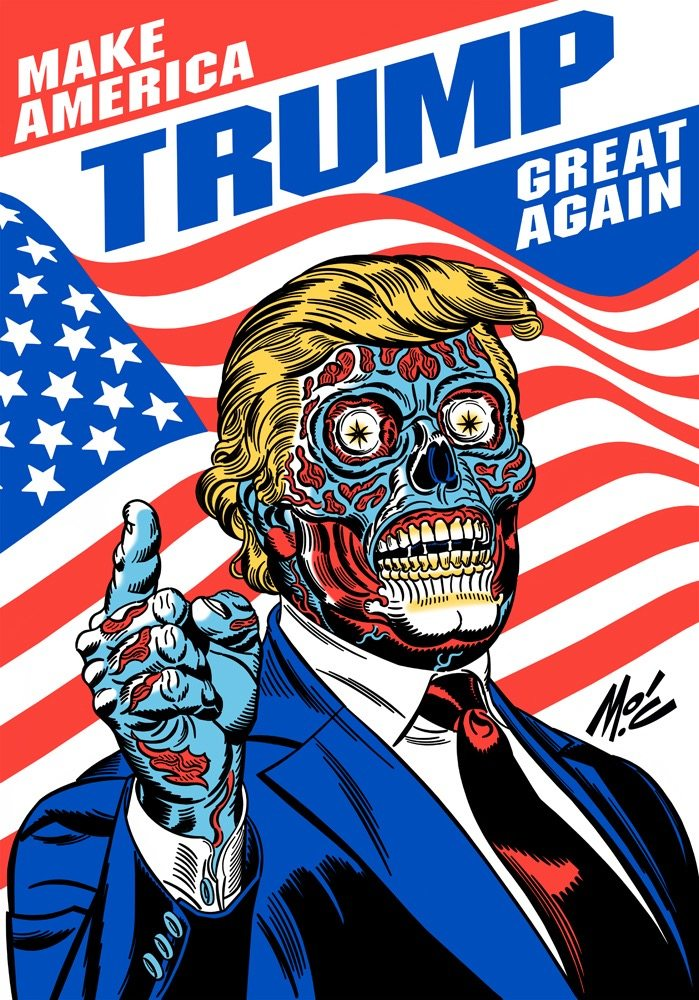 trump for president final FINAL tshirt email - What President Trump Could Mean for the Future of Horror
