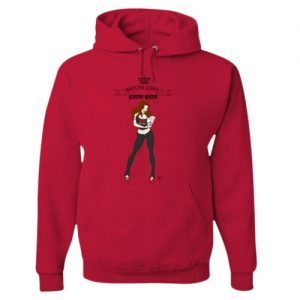 Red SQ Hoodie 500x500 300x300 - Brooke Lewis and Metal Babe Mayhem Launch Scream Queen Pinup Girl Clothing Line