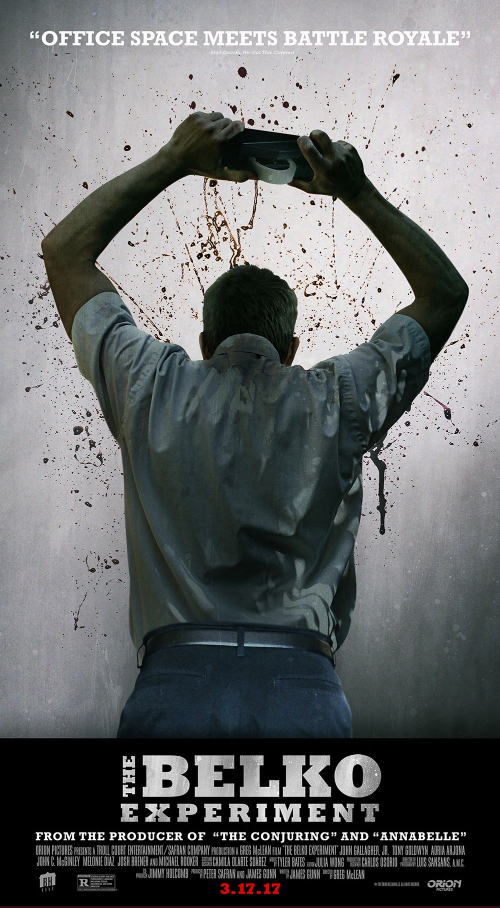 Belko Poster - Michael Rooker on The Belko Experiment