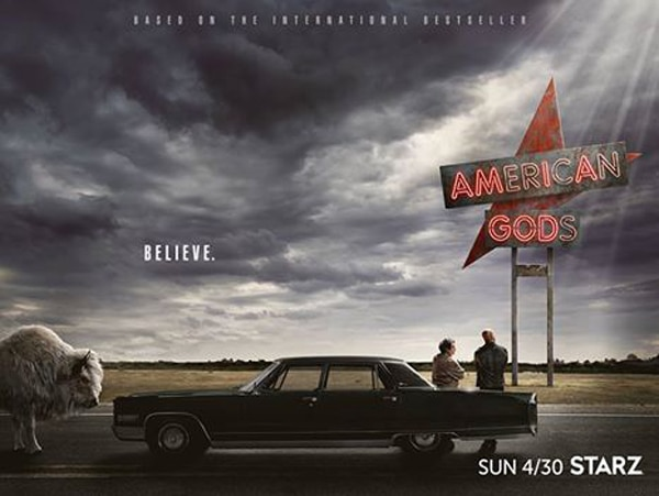 american gods premiereartwork - New American Gods Clips Get Us Ready for the Premiere