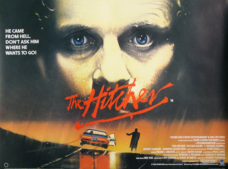 The Hitcher's theatrical poster