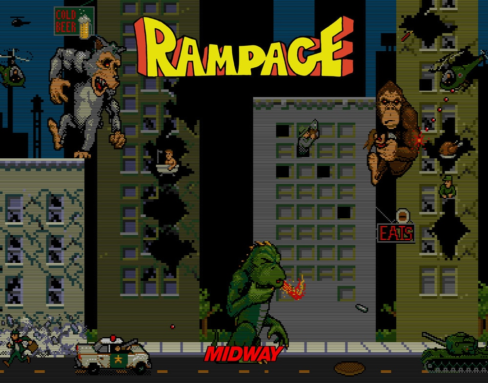 rampage - First Look at The Rock on a Rampage