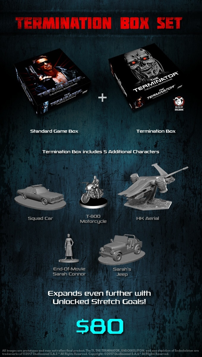 the terminator board game miniatures2 1 - The Terminator: The Official Board Game Kills it on Kickstarter