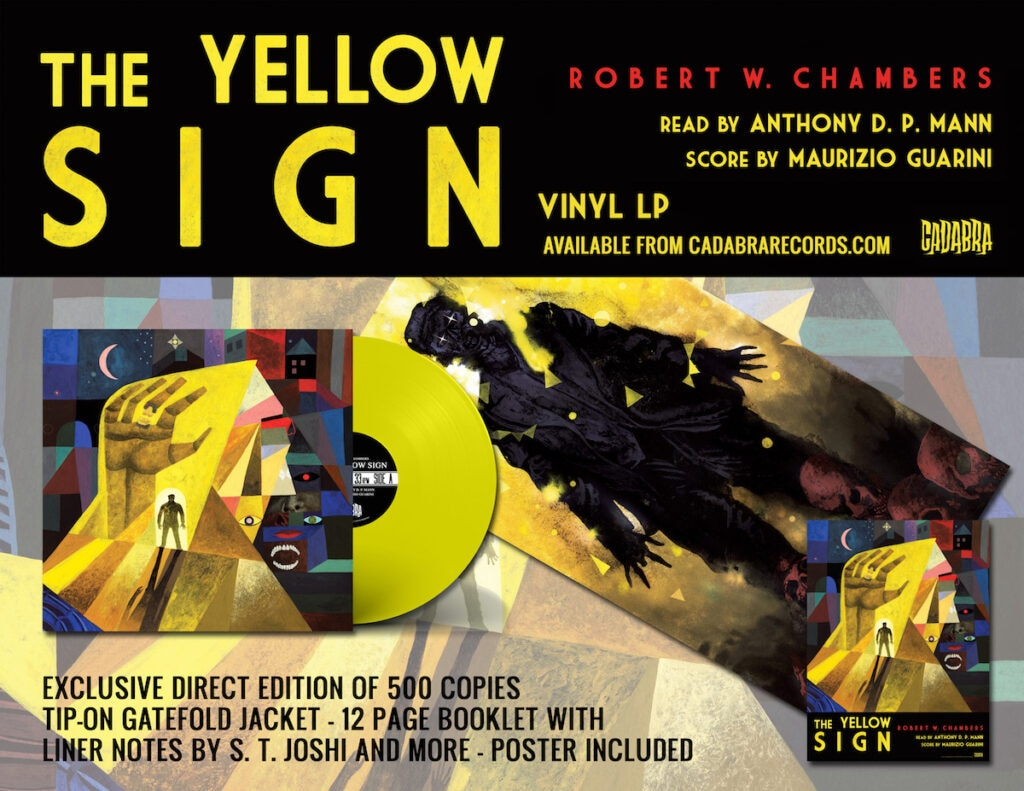 TYS ad 1024x791 - Exclusive Sample of Cadabra Records' Upcoming The Yellow Sign Vinyl Featuring Original Music from Goblin's Maurizio Guarini!