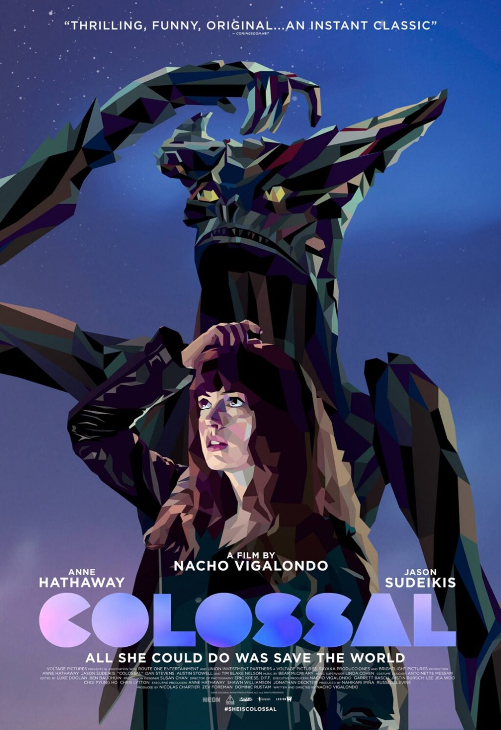 colossal ver2 xlg poster 1024x1491 - New Colossal Clip Proves You Shouldn't Make Promises When Drunk