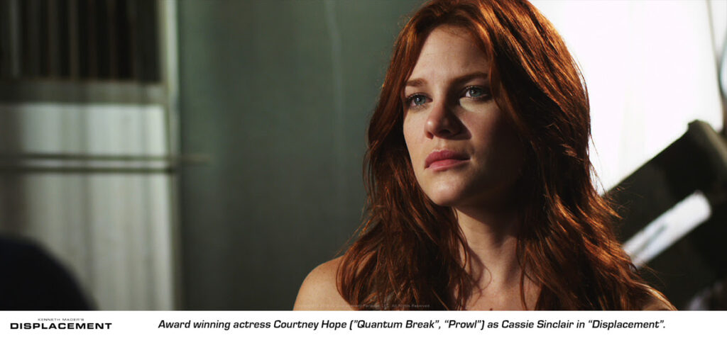displacementcourtneyhope 1024x477 - Time Travel Sci-fi Thriller Displacement Coming to VOD in April