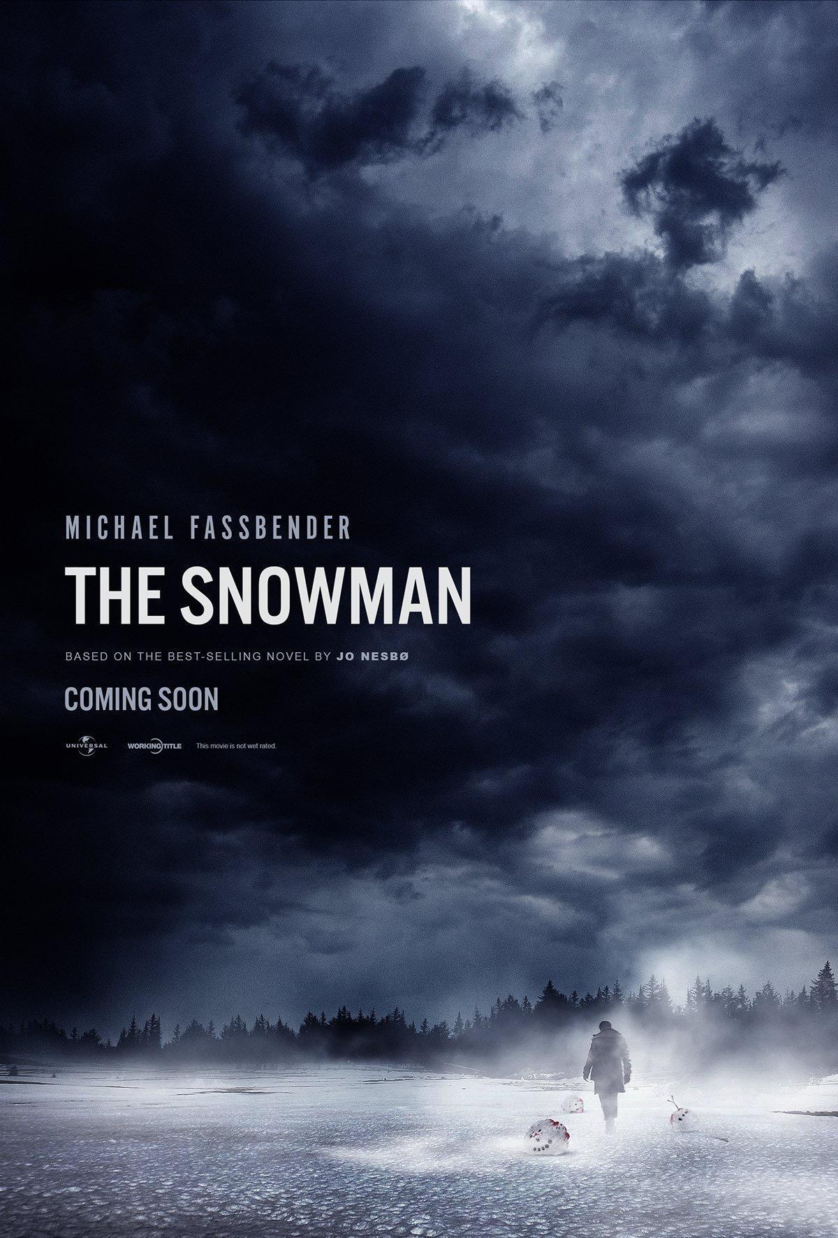 snowman poster - New Posters for The Snowman Have Some Red on Them