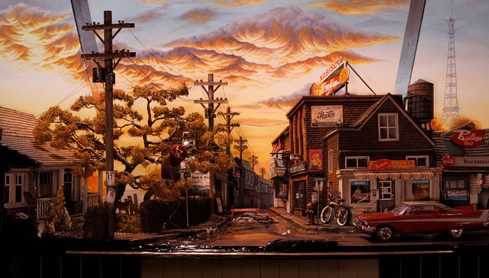 stephenkingdiorama3 - Derry, the Town From Stephen King's It, Has Been Recreated in a Stunning Model