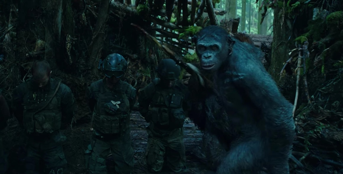 warfortheplanetoftheapesbanner - Witness Andy Serkis Becoming Caesar for War for the Planet of the Apes