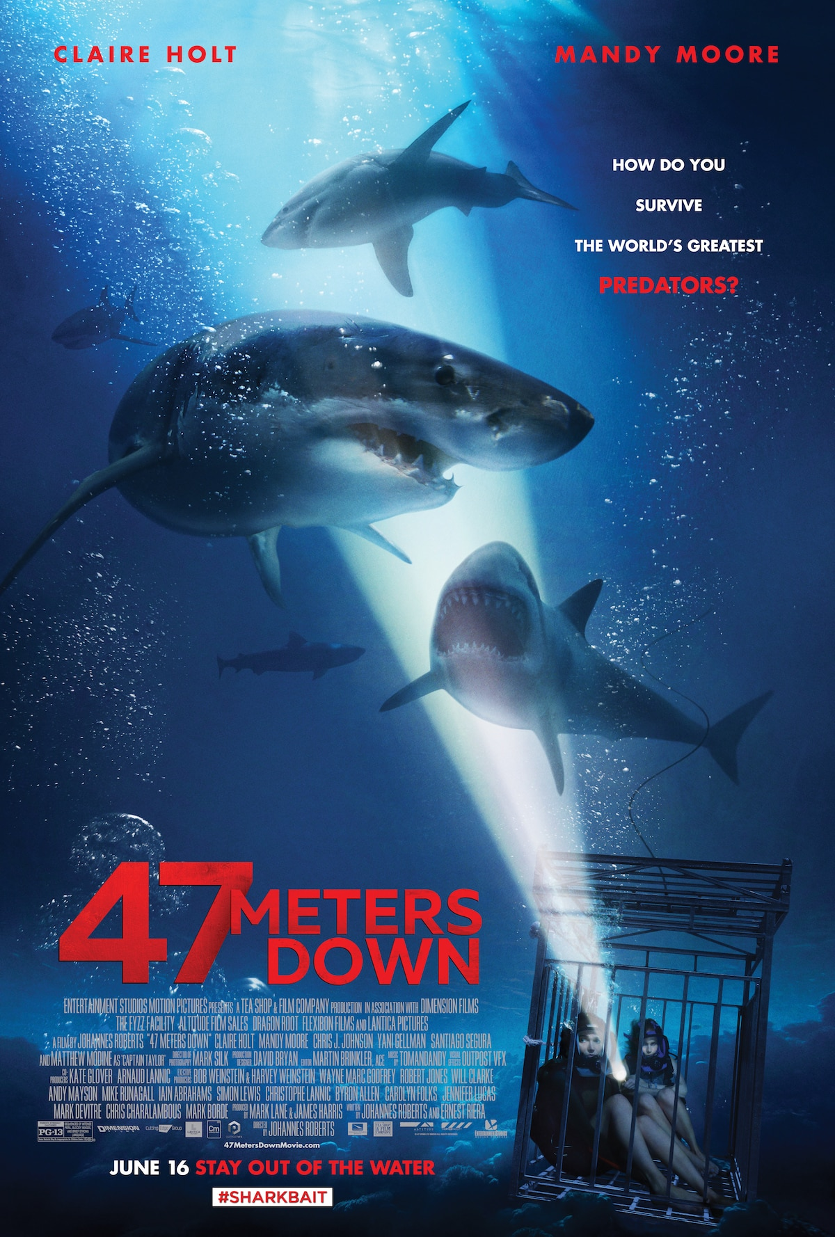 47meters2017poster - Dive Into the Depths With a New 47 Meters Down Trailer