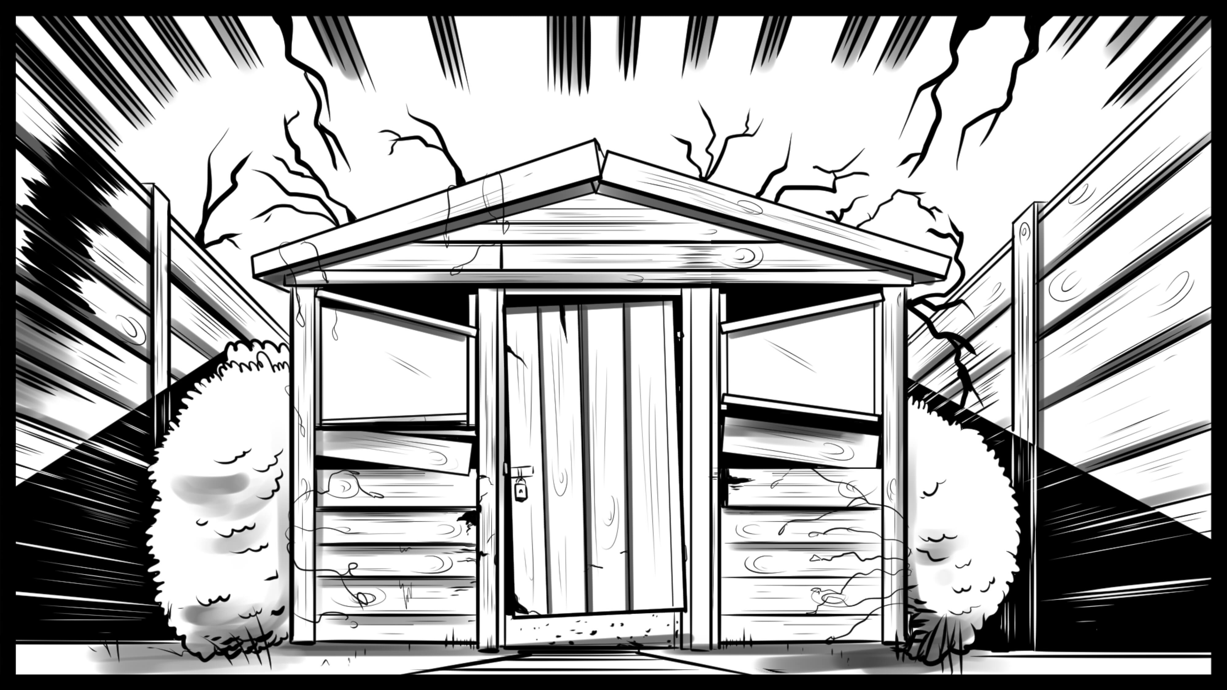 Blood Shed storyboard panel 2 by Andy W Clift 1 - Blood Shed Smashes Goal on Kickstarter; Extra Perks Available on Official Website