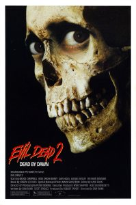 evildead2poster 199x300 - New Evil Dead 2 Shirts, Turntable Slipmats, and Candle Via Cavity Colors
